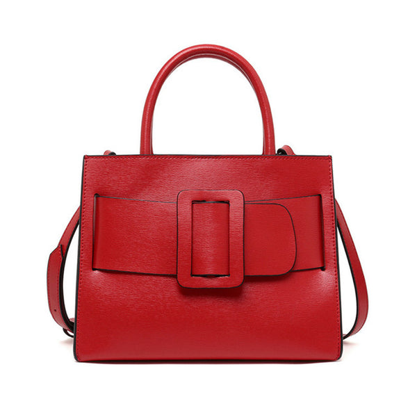 latest designer handbag trend leather red belt box shape nz buy online