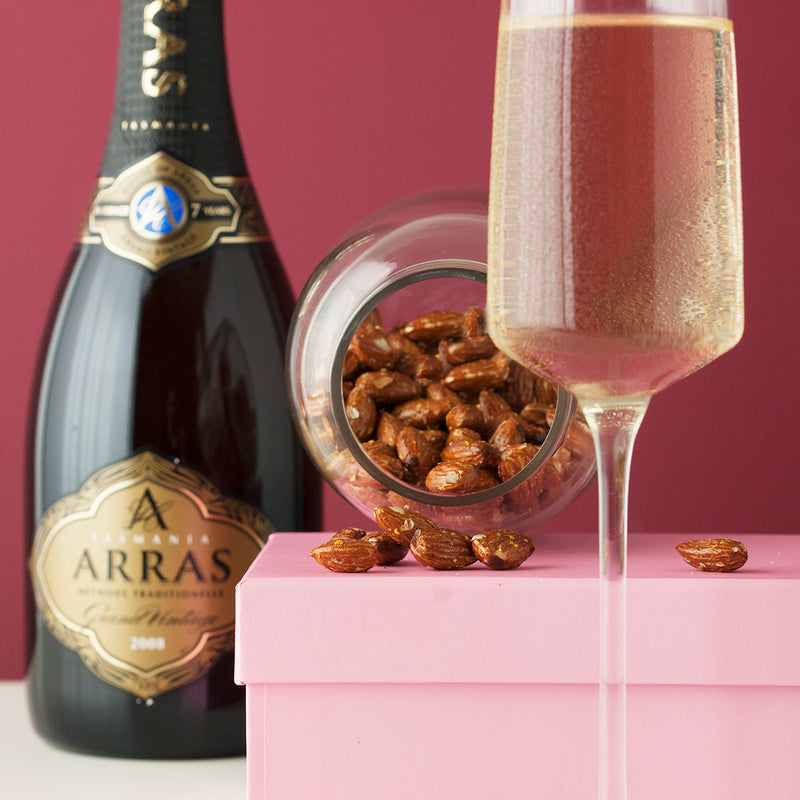 Arras Sparkling Wine and Smoked Honey Roasted Almonds
