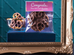 Congrats Now Let's Eat Chocolate - Chocolate Pretzels 100g