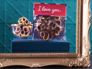 I Love You Chocolate Pretzels 100g