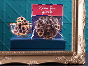 Zero Fox Given Chocolate Pretzels 100g