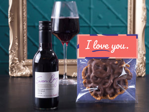I Love You with Red Wine Hamper