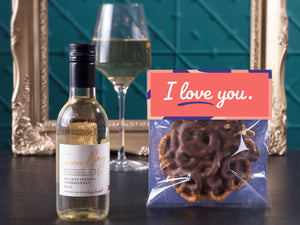 I Love you with White Wine Hamper