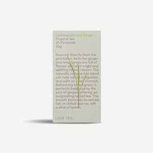 Love Tea Lemongrass & Ginger Tea Bags 20x50g