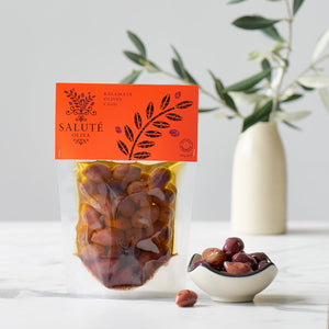 Salute 150g Kalamata Chilli Olives in Vacuum Pouches