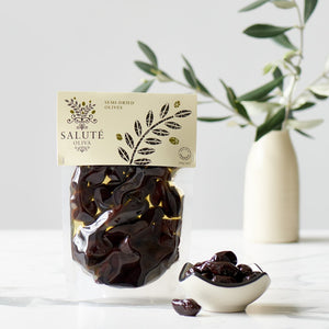 Salute 150g Semi-Dried Olives in vacuum pouches