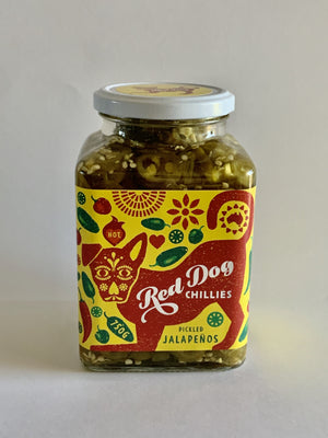 Red Dog Chillies Pickled Jalapeños - 750g