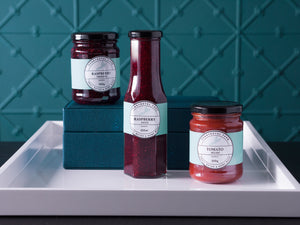Pennyroyal Farm Raspberry Sauce 250ml and Pennyroyal Farm Tomato Relish 350g