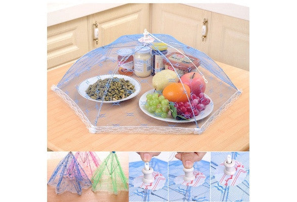 Random Color Umbrella Style Hexagon Anti Fly Mosquito Kitchen