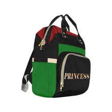 Load image into Gallery viewer, Princess RBG Flag Multi-Function Diaper Backpack - Kingdom of Melanin