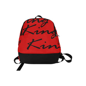 King Red Fabric Backpack for Adult - Kingdom of Melanin