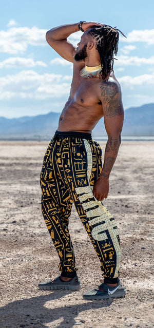 Egyptian Hieroglyphs KING Men's Sweatpants