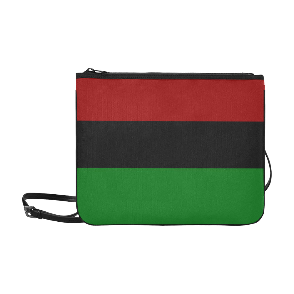 Red Black Green Slim Clutch Bag