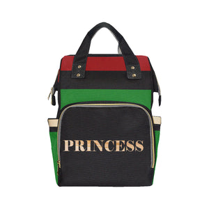 Red Black and Green Princess Multi-Function Diaper Backpack
