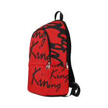 Load image into Gallery viewer, King Red Fabric Backpack for Adult - Kingdom of Melanin