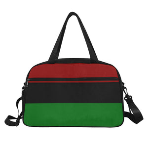 Red Black and Green Duffel Weekend Gym Bag