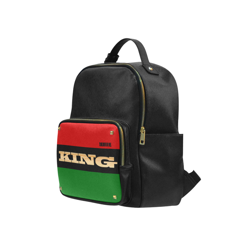 King Taiga Leather Campus backpack Small