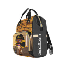 Load image into Gallery viewer, Cleopatra Multi-Function Diaper Backpack - Kingdom of Melanin