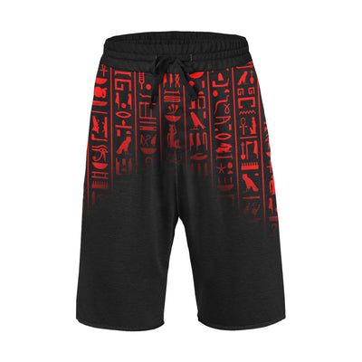 Ancient Egyptian Red Casual Shorts