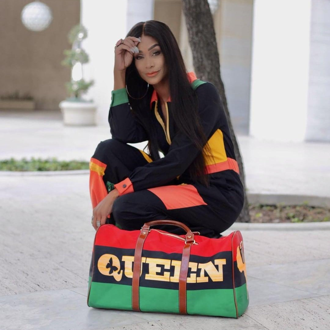 queen red black green travel carry on bag king and queen couple duffel luggage