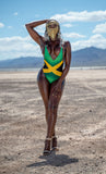 Jamaica Backless One-Piece Swimsuit - Kingdom of Melanin