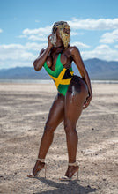 Load image into Gallery viewer, Jamaica Backless One-Piece Swimsuit - Kingdom of Melanin