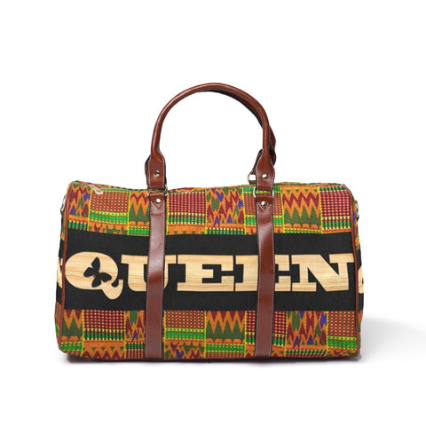 Queen Kente Waterproof Travel Bag/Large - Kingdom of Melanin