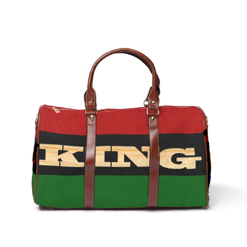 King RBG flag Waterproof Travel Bag/Large - Kingdom of Melanin