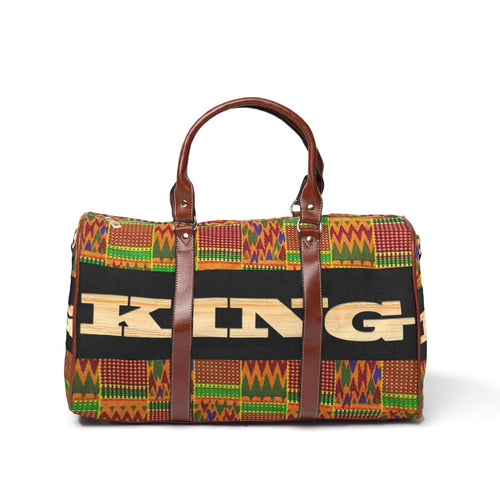 1 left King Kente Waterproof Travel Bag/Large - Kingdom of Melanin