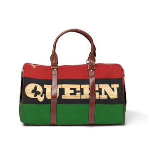 Queen RBG flag Waterproof Travel Bag/Large