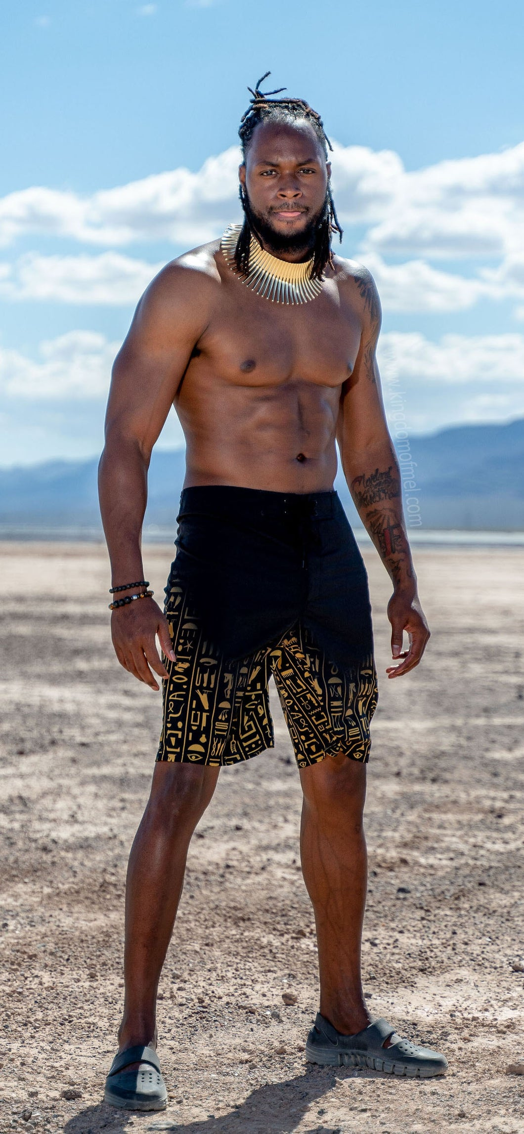 Egyptian Board Shorts - Kingdom of Melanin