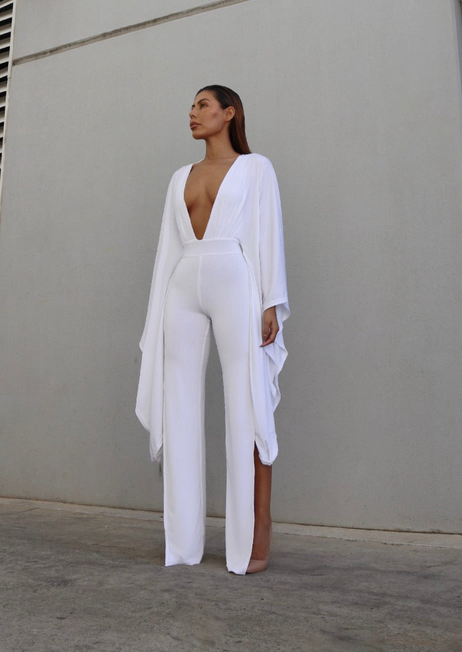 OLIVIA JUMPSUIT - WHITE