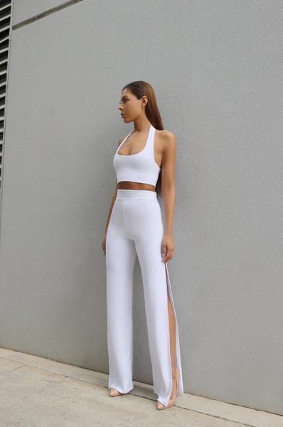 TAHLIA CROP- WHITE / BLACK