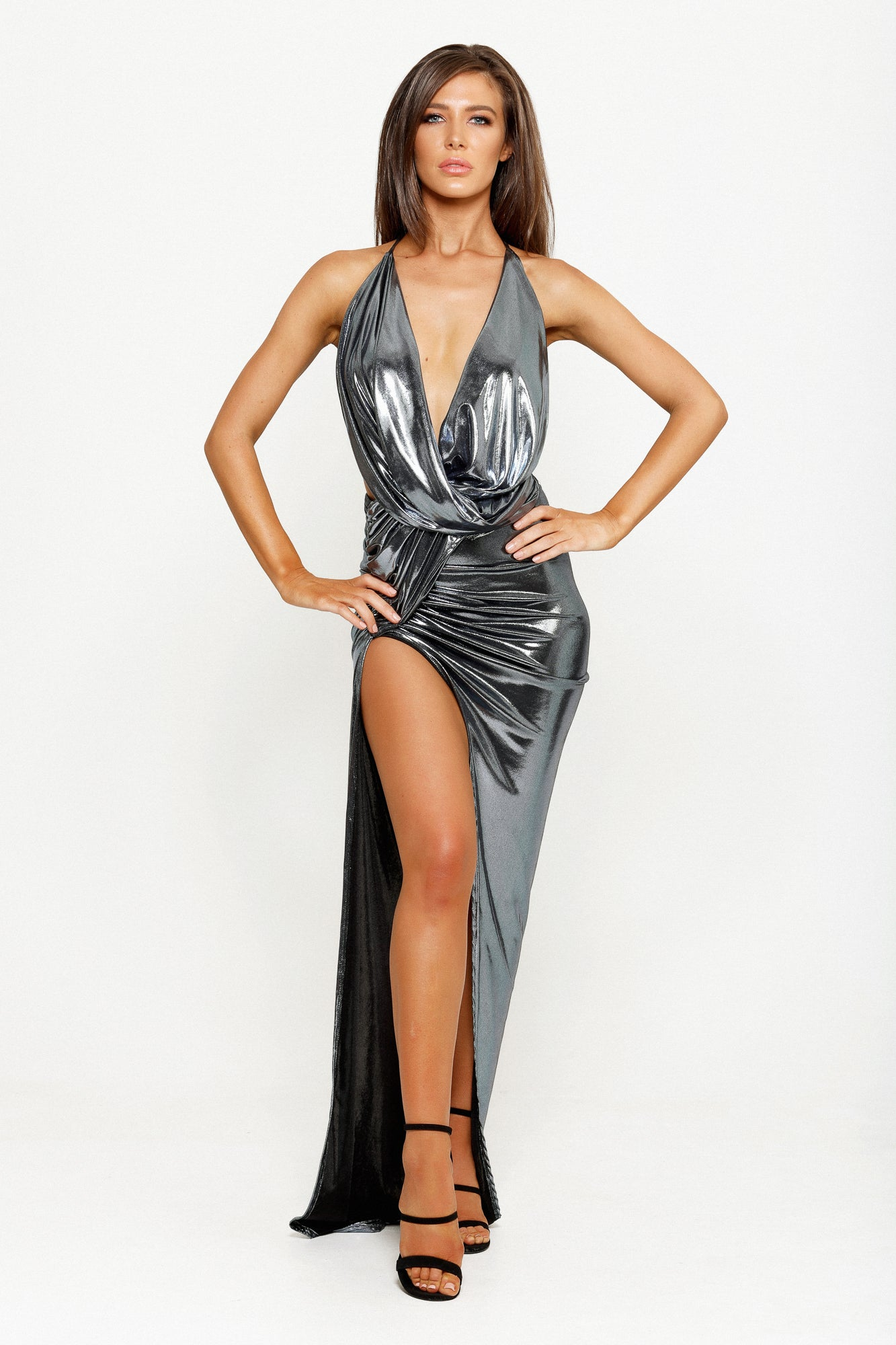 VIALI GOWN - LUXE SILVER
