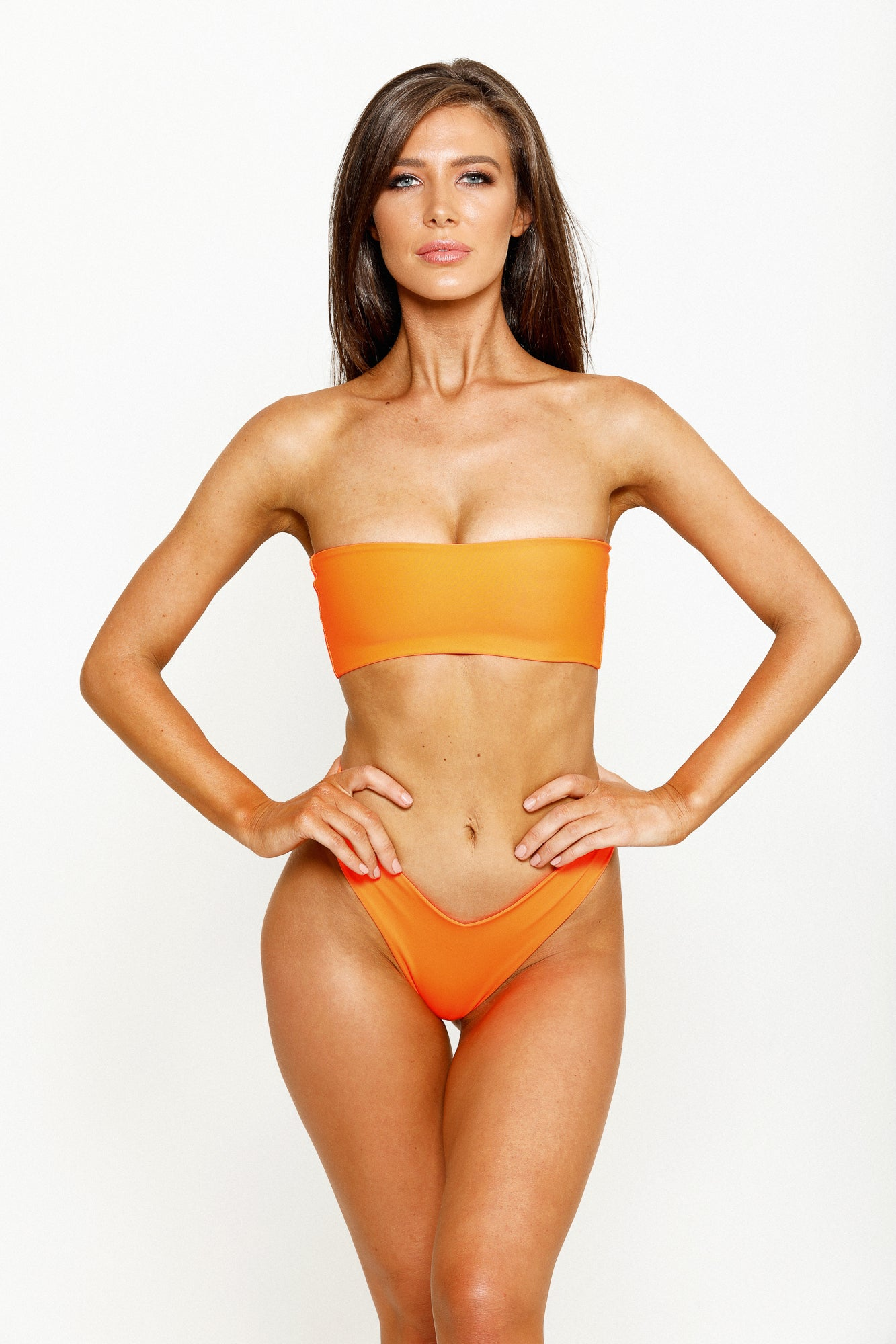 ISABELLA BIKINI CROP- NEON ORANGE
