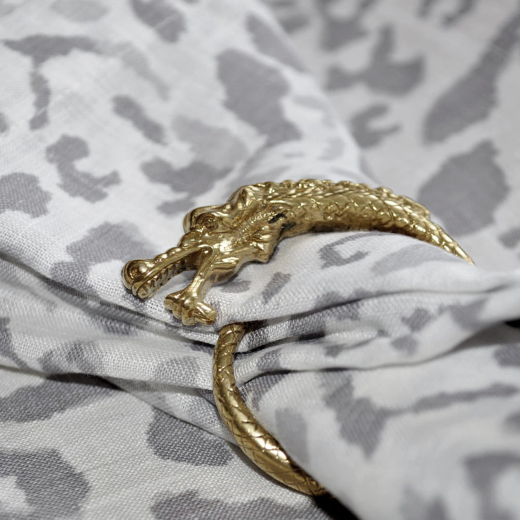 Brass Napkin Ring - Dragon (set of 8 - only available for purchase with Ikat Napkins)  napkin