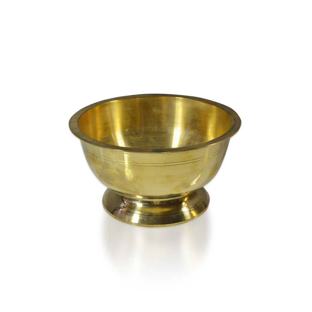 Brass Large Pedestal Bowl