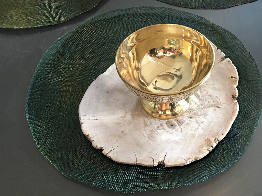 Brass Footed Bowl - Set of 2  Bowl