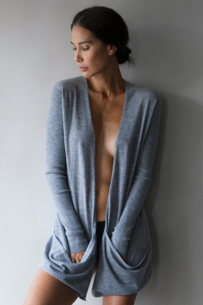 Superfine Cashmere Cardigan  Womens Clothing