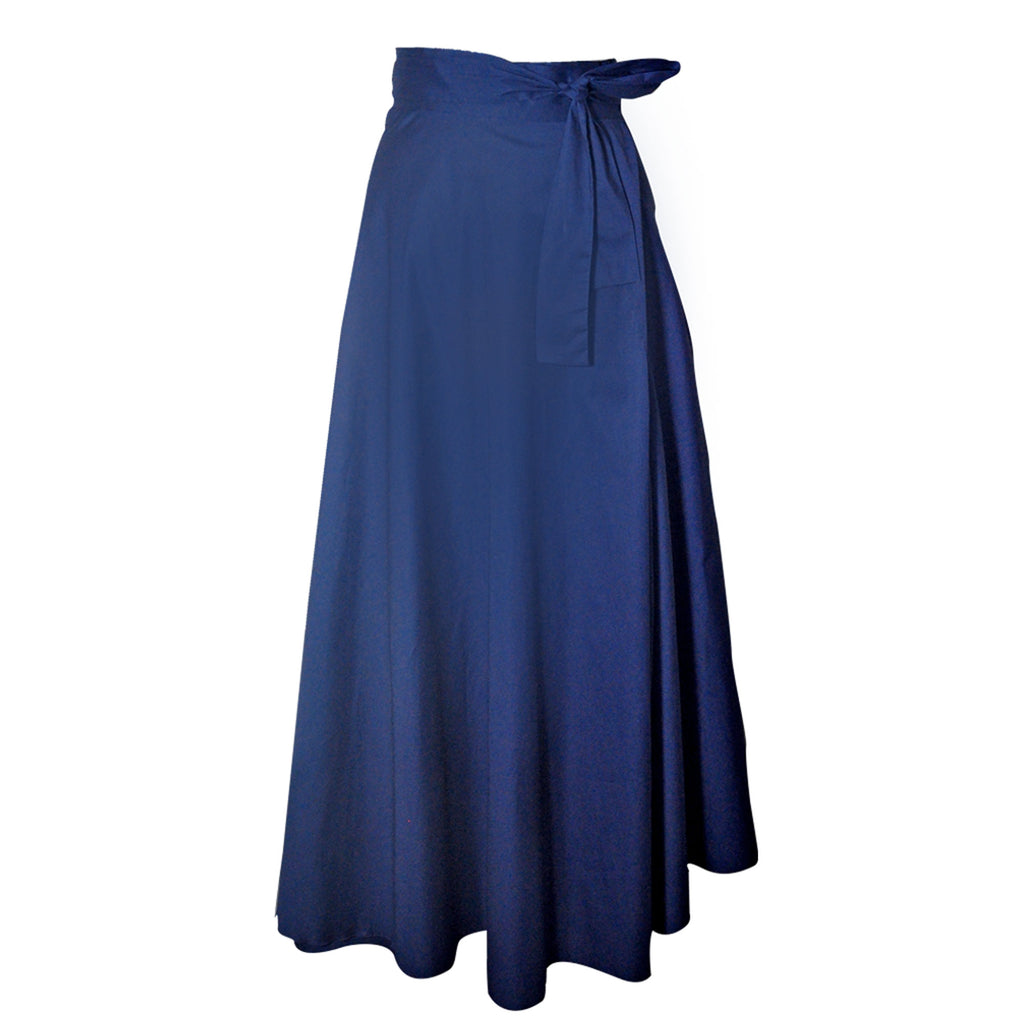 China Wrap Skirt - navy  Bottom
