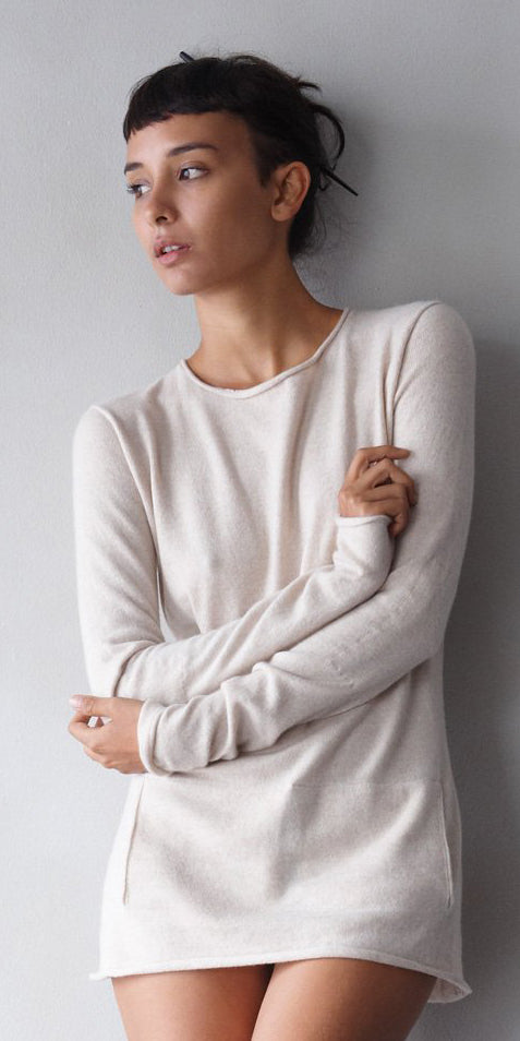 Mid-Weight Cashmere Crew-Neck Sweater  Womens Clothing