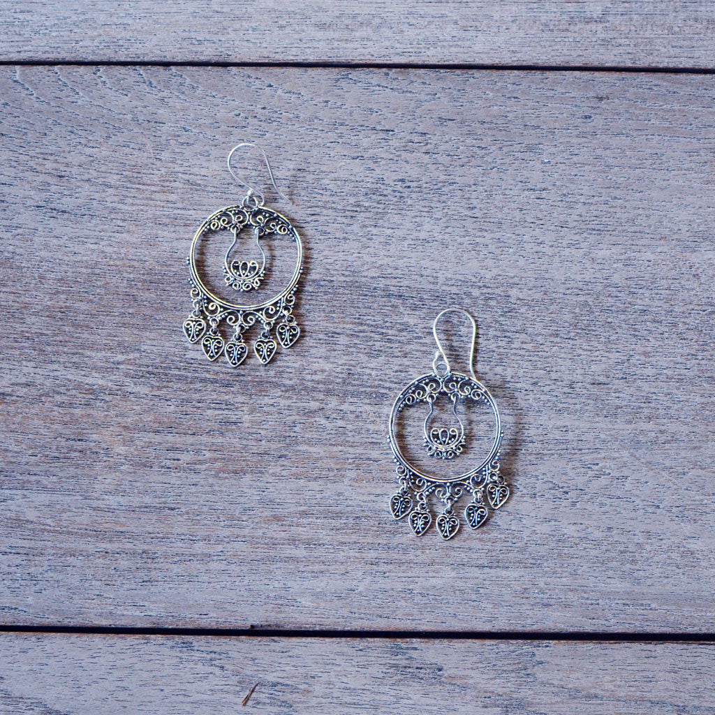 Dreamcatcher Earrings - Silver