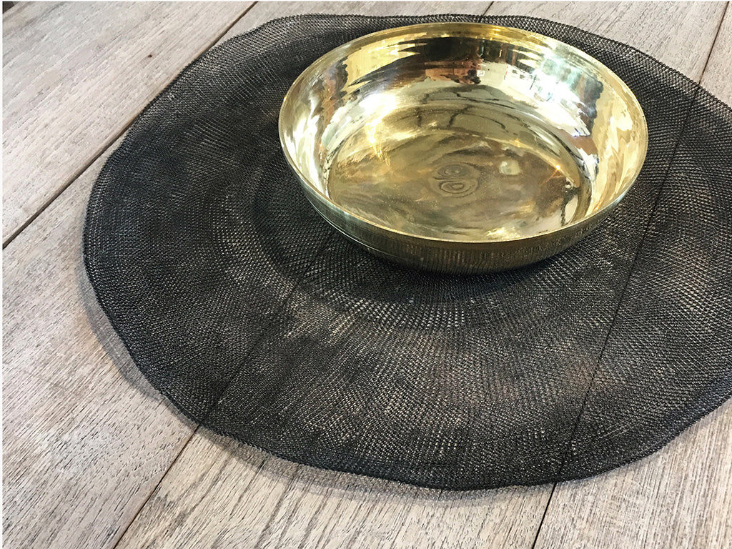 Brass Flat Bowl - Set of 4  Homewares