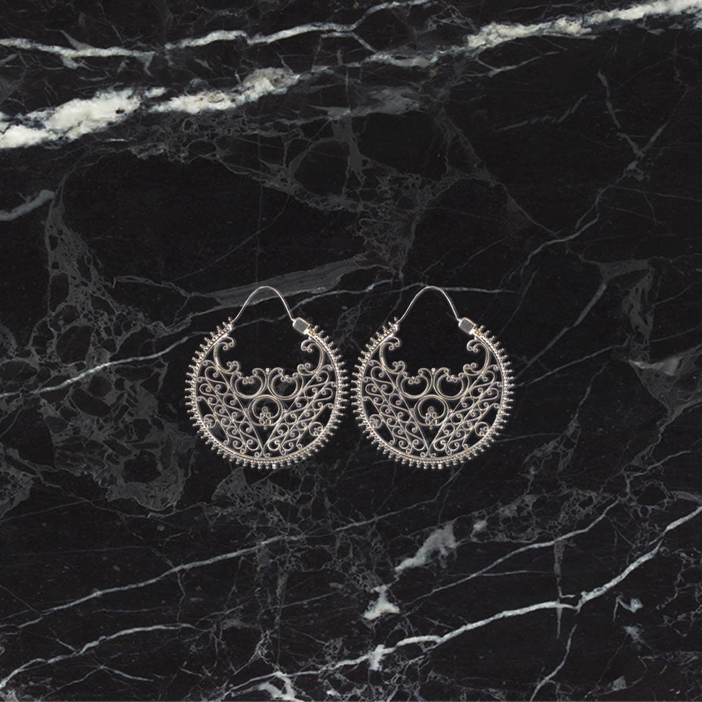 Goddess Earrings - Silver Silver / S Jewellery