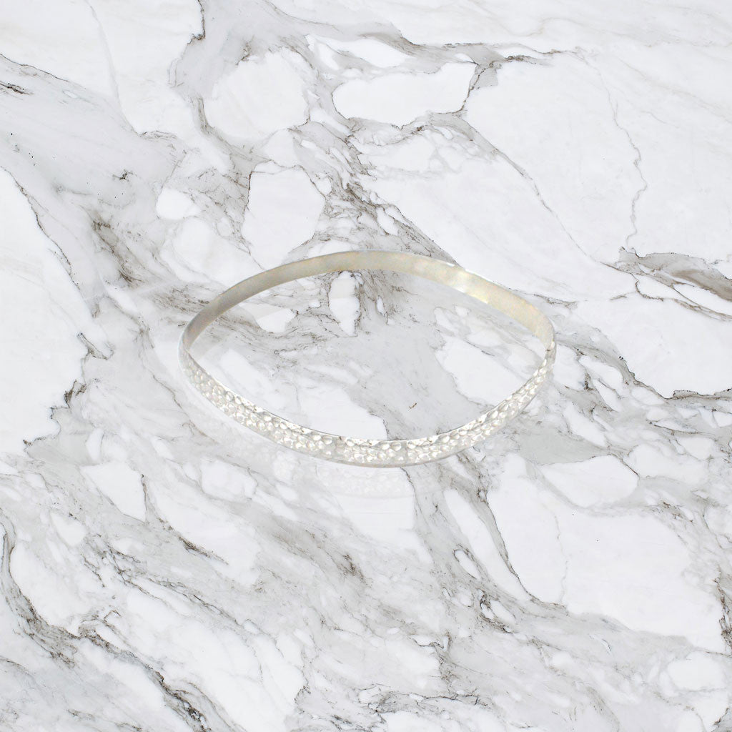 Hammered Bangle - Sterling Silver  Jewellery