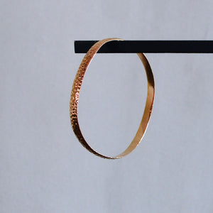 Hammered Bangle - Rose Gold