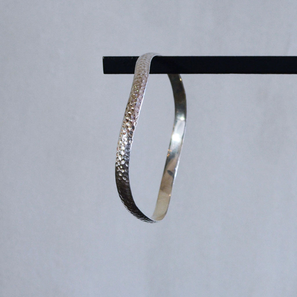 Hammered Bangle - Sterling Silver