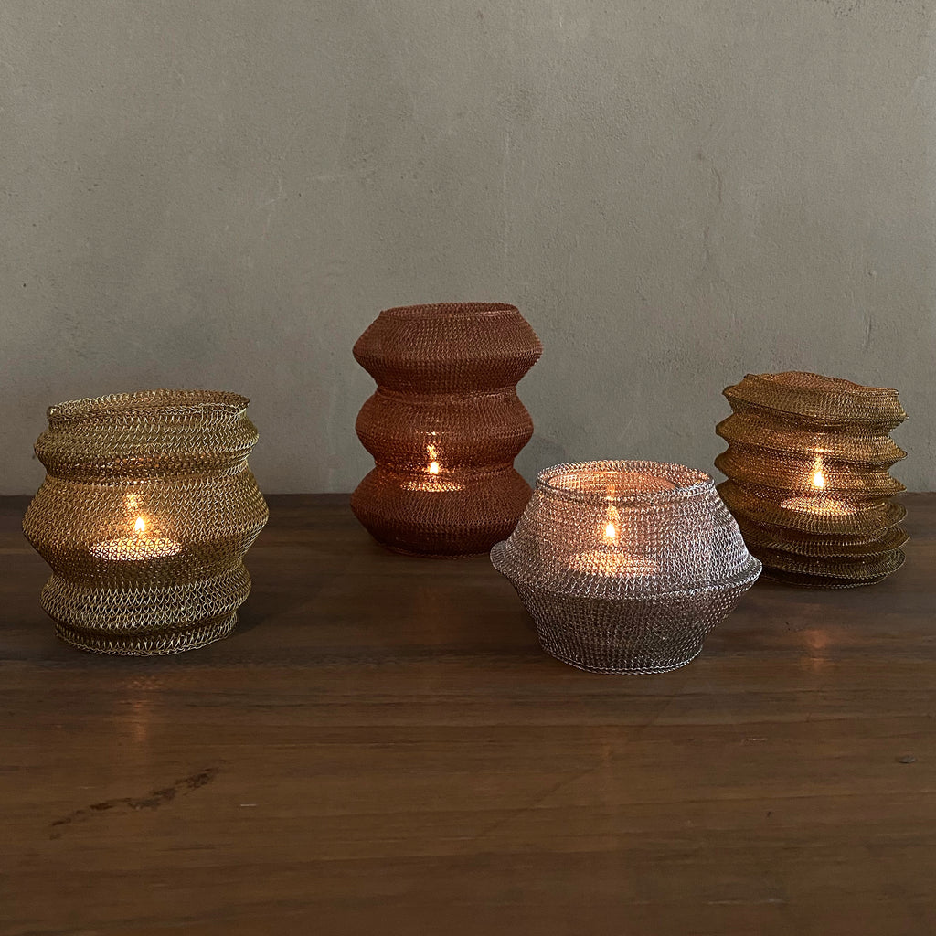 Metal Mesh Candle Lantern - Set of 4  Candle Lantern