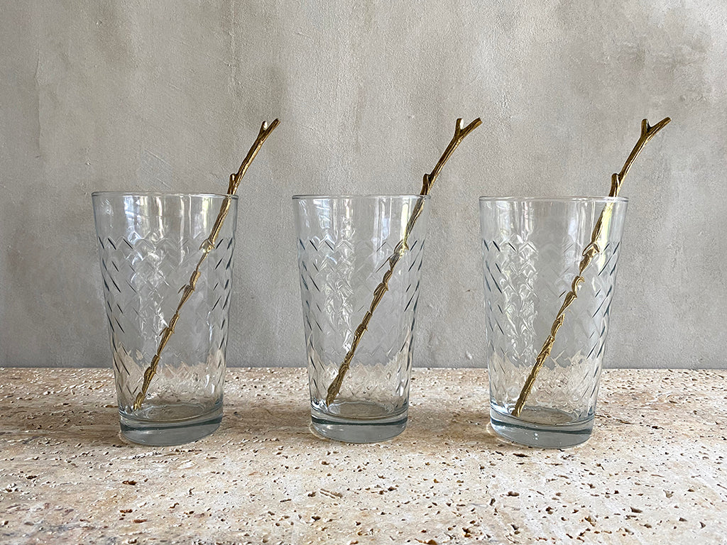 Twig Brass Swizzle Sticks - Set of 6  Swizzle Sticks