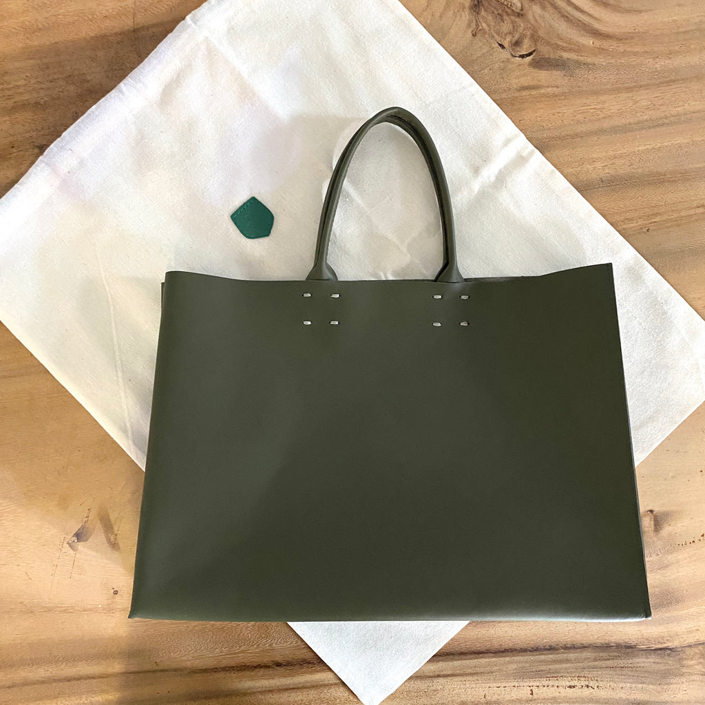 Katsunori Leather Tote - Medium Charcoal  Bag